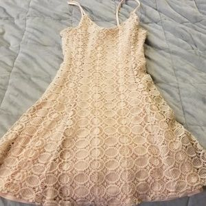 Lightly-Worn Pink Lace Aqua Dress